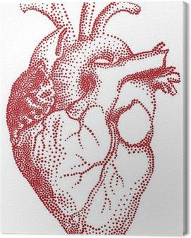Obraz na Płótnie Czerwone serca, ilustracji wektorowych