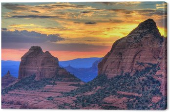Obraz na Płótnie Czerwone skały słońca
