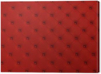 Czerwone tekstury skóry pikowane kanapy