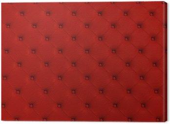Obraz na Płótnie Czerwone tekstury skóry pikowane kanapy