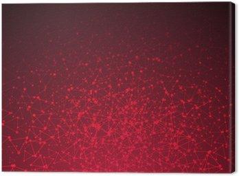 Obraz na Płótnie Czerwony Połączenie trójkąt abstrakcyjne tło. ilustracji wektorowych