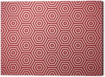 Obraz na Płótnie Czerwony wzór retro siedemdziesiątych