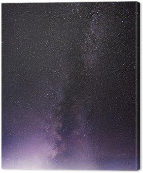 Obraz na Płótnie Część nocnego nieba z gwiazdami i Droga Mleczna
