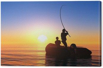 Obraz na Płótnie Człowiek w łodzi