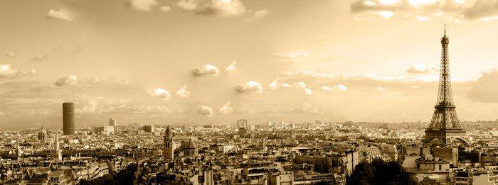 Obraz na Płótnie Dachy Paryża - iStaging