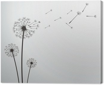 Obraz na Płótnie Dandelion wektor