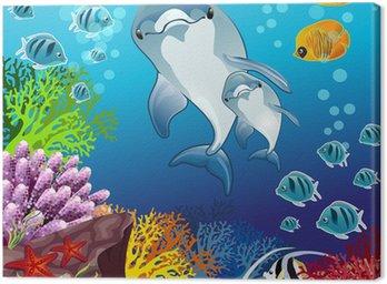 Delfiny na dnie morza