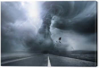 Obraz na Płótnie Destrukcyjne Potężne tornado