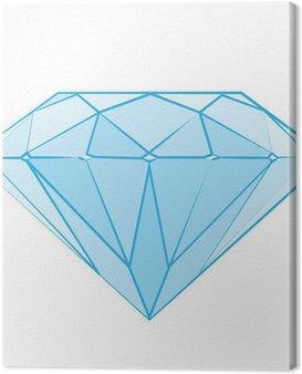 Obraz na Płótnie Diament logo, logotyp luksus