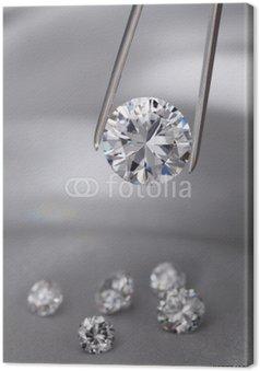 Obraz na Płótnie Diamentowa biżuteria holding