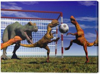 Obraz na Płótnie Dinozaur football