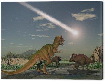 Dinozaury oglądać upadek asteroidy