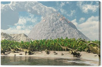 Obraz na Płótnie Dinozaury