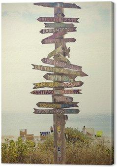 Obraz na Płótnie Directional post znak na plaży