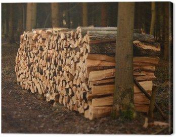 Obraz na Płótnie Do stos drewna opałowego Ułożone