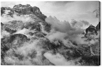 Obraz na Płótnie Dolomity w czerni i bieli