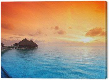 Obraz na Płótnie Domy na Malediwów wschodu