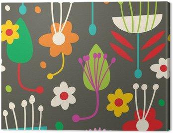 Obraz na Płótnie Doodle bez szwu kwiatowy wzór