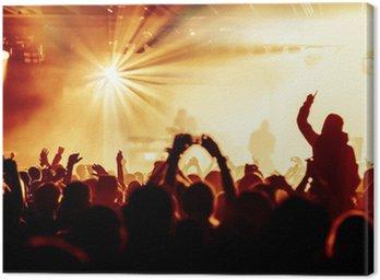 Obraz na Płótnie Doping tłumu na koncercie