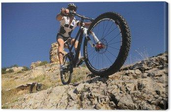 Obraz na Płótnie Downhill rider