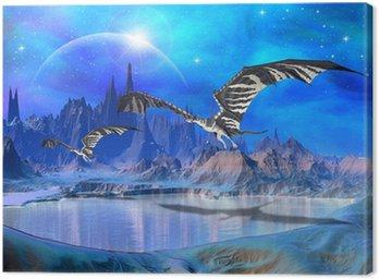 Obraz na Płótnie Dragons - Fantasy World 02