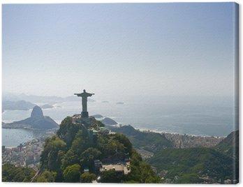 Obraz na Płótnie Dramatyczny widok z lotu ptaka Rio de Janeiro