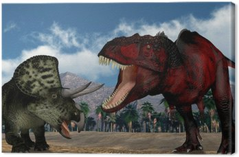 Obraz na Płótnie Drapieżny dinozaur