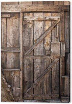 Obraz na Płótnie Drewniane drzwi szczegółowo
