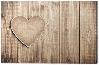 Obraz na Płótnie Drewniane serca