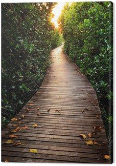 Obraz na Płótnie Drewniany most