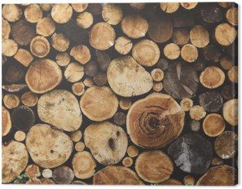 Obraz na Płótnie Drewno opałowe tekstury
