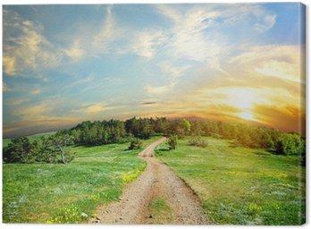 Obraz na Płótnie Droga krajowa w górach