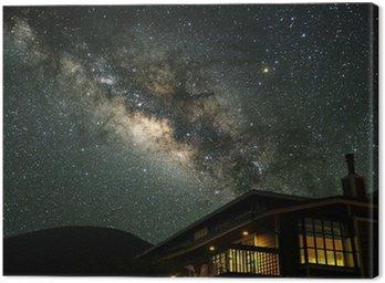 Obraz na Płótnie Droga Mleczna nad górskim domu.