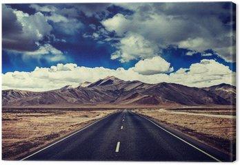 Obraz na Płótnie Droga na równinach w Himalaje z góry
