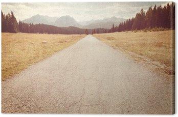 Obraz na Płótnie Droga w kierunku gór - Vintage obraz