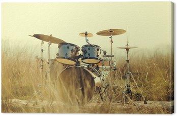 Obraz na Płótnie Drum Set w polu