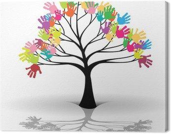 Obraz na Płótnie Drzewo Dzieci