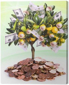 Obraz na Płótnie Drzewo pieniędzy