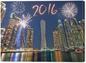 Obraz na Płótnie Dubaj newyear fajerwerki 2016