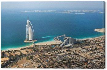Obraz na Płótnie Dubaj, Zjednoczone Emiraty Arabskie. Burj Al Arab od góry