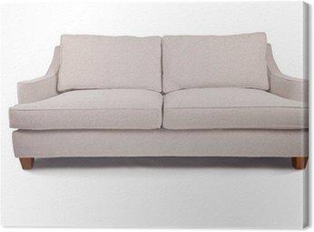 Duży biały sofa kanapa lub fotel miłość