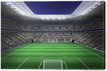 Obraz na Płótnie Duży stadion piłkarski z oświetleniem