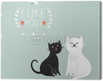 Dwa cute kotów