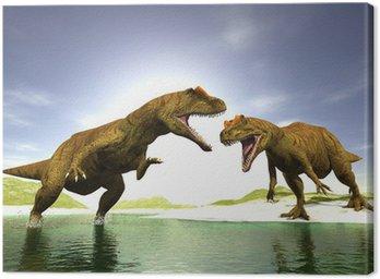 Obraz na Płótnie Dwa dinozaury