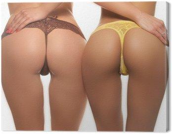 Obraz na Płótnie Dwie seksowne tyłki