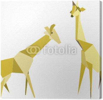 Obraz na Płótnie Dwie żyrafy - origami