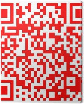 Obraz na Płótnie Dwuwymiarowy kod kreskowy R