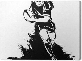 Obraz na Płótnie Działa w rugby z piłką