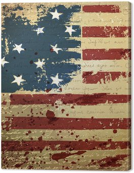 Obraz na Płótnie Dzień Niepodległości w tle. abstrakcyjny, grunge, wektor.