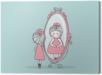 Obraz na Płótnie Dziewczyna w lustrze